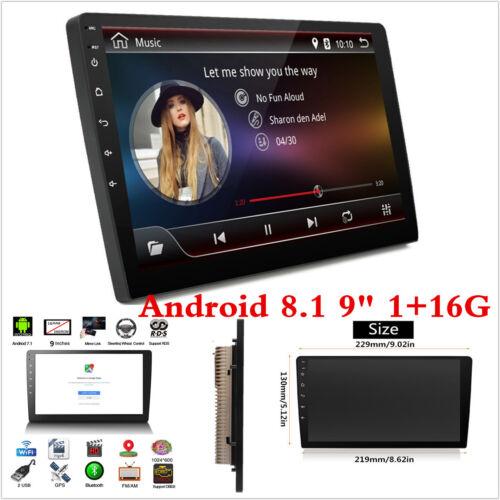 "Android 8.1 Bluetooth 9/"" WiFi Car Dash Stereo Radio MP5 Player GPS Navigation"