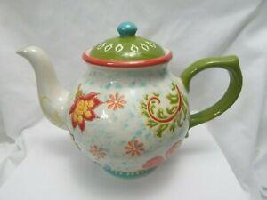 Dutch Wax by Coastal Imports Handpainted Ceramic Tea For One Teapot /& Mug New