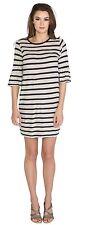 VELVET By Graham & Spencer Andean Cotton Modal Strip Dress $139.00 Size Xs
