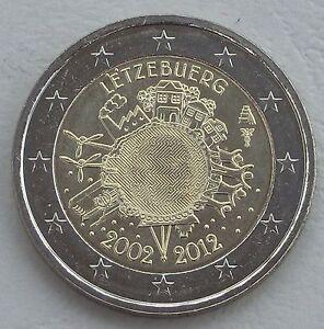 2 Euro Luxembourg 2012 10 Ans Euro Unz-afficher Le Titre D'origine Tozx9wnr-08001432-799592663