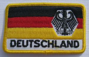 Deutschland-BRD-Germany-Adler-Eagle-Flagge-Aufnaeher-Patch-5-x-8-cm-NEU-A54v