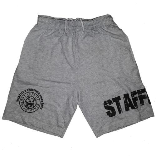 Staffordshire Bullterrier Jogging Hose Staffbull Dept Sweathose Shorts kurz grey