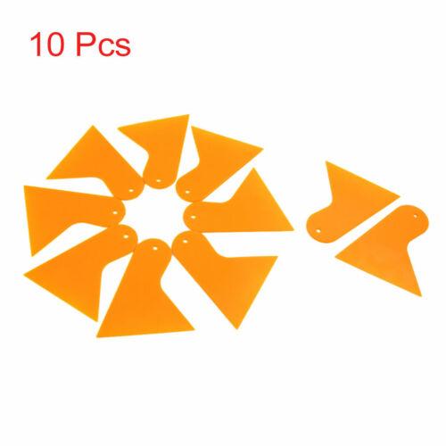 10 Pcs Orange Plastic Windscreen Windshield Film Scraper Bubble Squeegee for Car