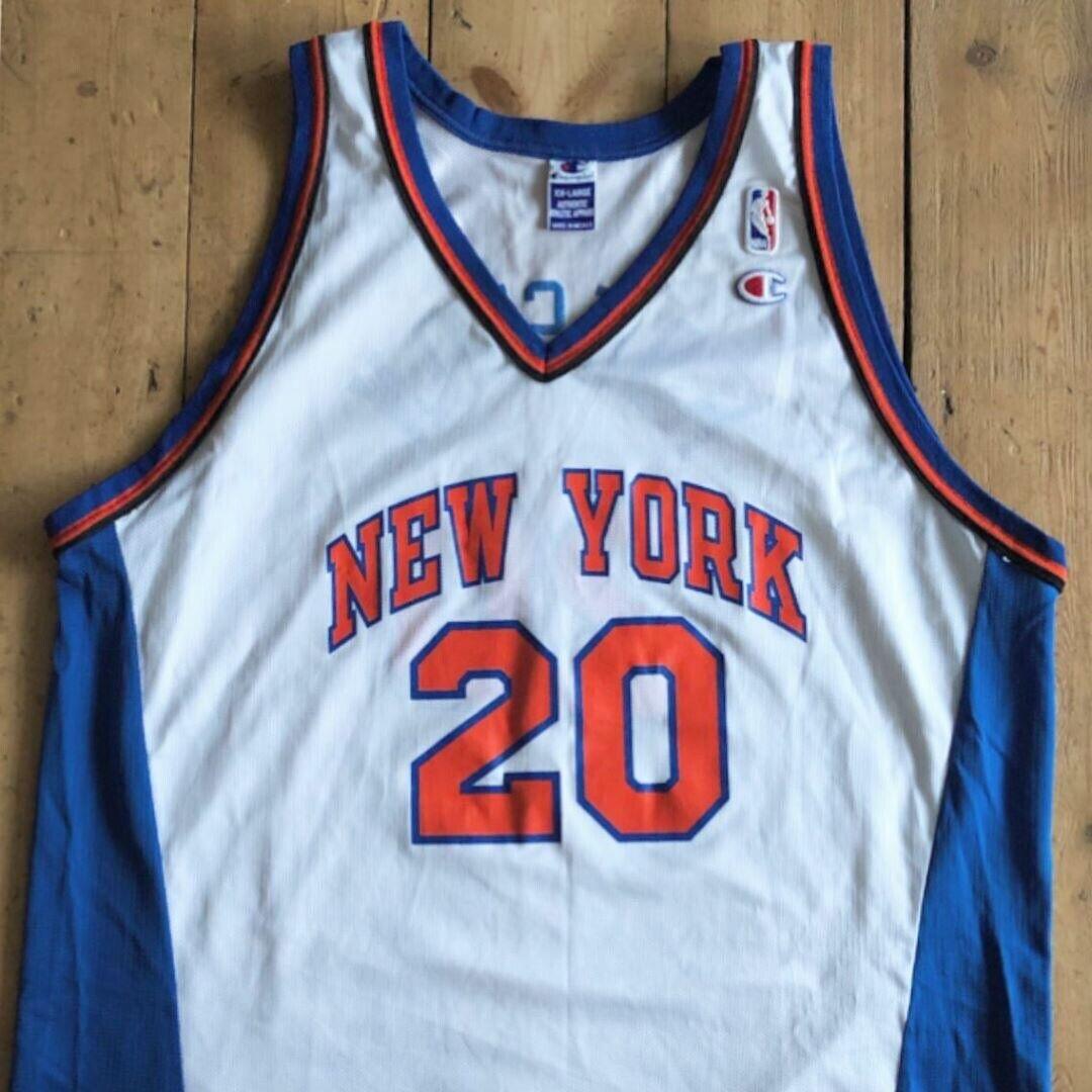 Allan Houston nieuwe York Knicks Basketbal Jersey afmeting 52 (XXL) kampioen NBA Vest