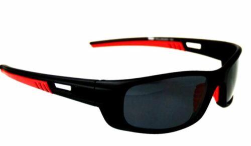 SRS MENS UNISEX BLACK Sunglasses Polarized WRAP QUALITY SPORT SKIING BIKER STYLE