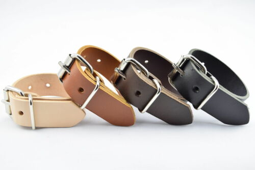UTILITY STRAP REAL LEATHER 19mm HEAVY DUTY NICKEL BUCKLE VARIOUS LENGTHS 3//4/""