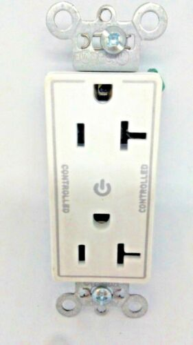26352CDW 20A Plug Load Dual Controlled Decorator Receptacle WHITE FREE SHIPPING