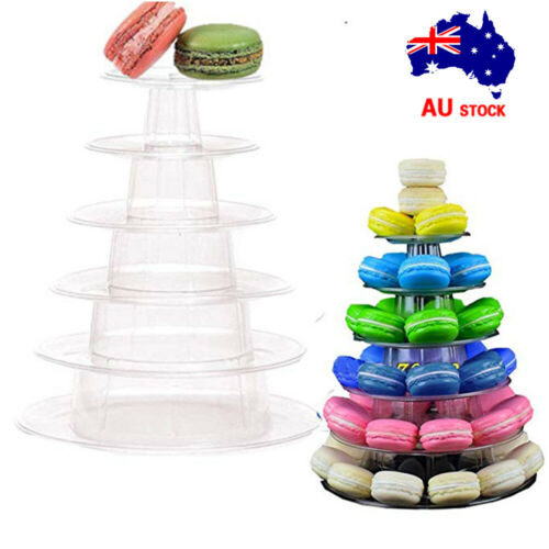 6 Tiers Macaron Cake Chocolate Tower Display Round Rack Stand Wedding Party