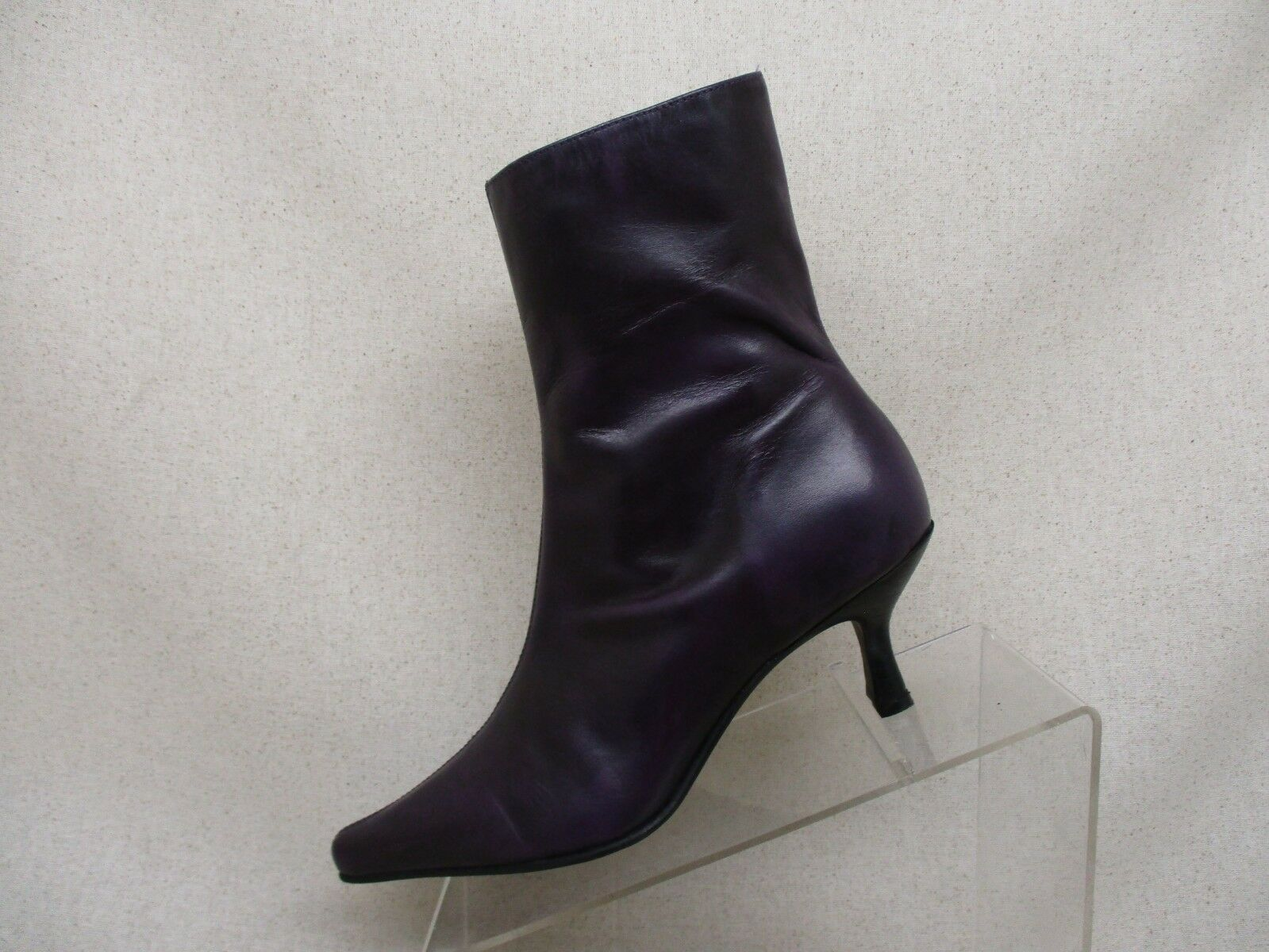 Matisse Purple Leather Side Zip High Ankle Fashion Boots Bootie Size 6 M