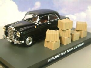 Miniature-1-43-James-Bond-007-Mercedes-Benz-220S-Goldfinger-Usine-Chase-Avec