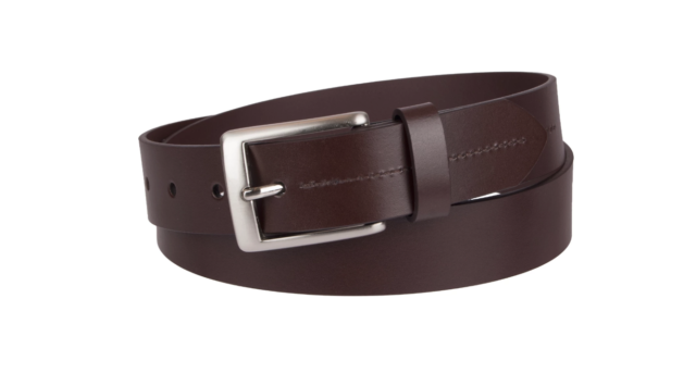 Dickies Men/'s 38mm Reversible Cut Edge Leather Belt Brown-Black