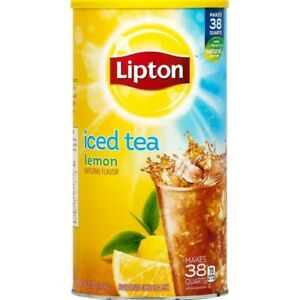 Lipton Lemon Iced Tea With Sugar Mix 95 7 Oz Can Makes 38 Quarts 638908120638 Ebay