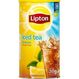 Lipton Lemon Iced Tea With Sugar Mix 95 7 Oz Can Makes 38 Quarts 638908120638 Ebay