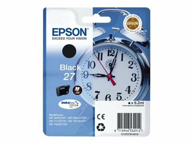 Epson Original T2701 Tintenpatrone Schwarz Original 6,2 ml