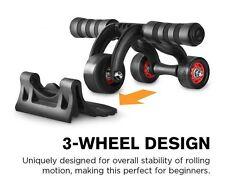Protoner UNISEX 3-Wheel AB Roller Toner Exercise Equipment for Abdominal Core