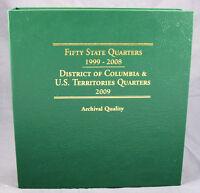 Coin Album By Littleton Statehood Quarters 1999 - 2009, Both P&d Mints, Lca48t