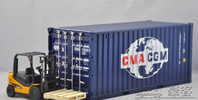 1 20 CMA CGM container model+forklift+board