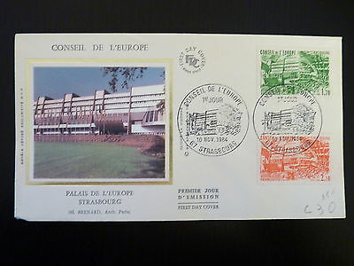 Intellective France Premier Jour Fdc N° S82/83 Palais De L Europe 1,70+2,10f Strasbourg 1984 Architecture Topical Stamps