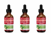 Slimming Drops - Green Tea Formula Drops - Weight Loss - 3 Bottles 3 Fl Oz