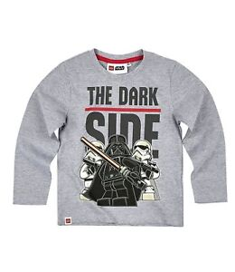 d2a20b3f Boys Kids Official Licensed Lego Star Wars Grey Long Sleeve T Tee ...