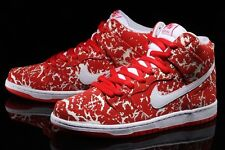 "NIKE SB DUNK HIGH PREMIUM ""RAW MEAT"".. RED/ WHITE.. MEN 8 or WOMEN 9.5.."
