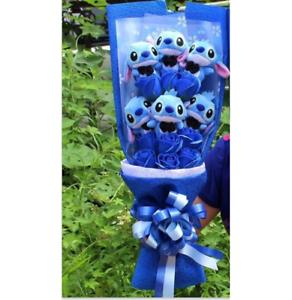 2018 Lilo & Stitch Flowers Doll Romantic Bouquet Valentine Graduation Gifts Toys