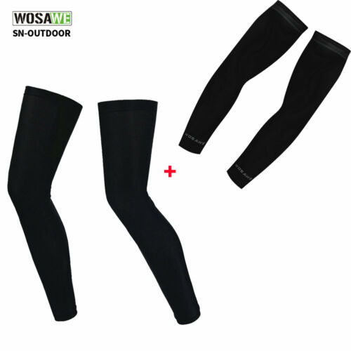 Bike Cycling Arm Warmers Cuff Leg Sleeves UV Sun Protection Covers Gears Summer