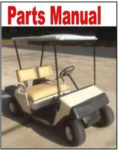 1986 1987 E Z Go Parts Manual Golf Cart Ezgo Ez Go Ebay