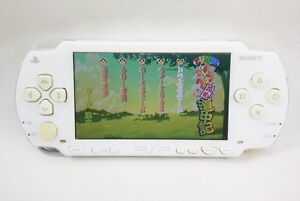 PSP-Ceramic-White-PSP-1000-Console-Sony-Playstation-Portable-Tested-2616-Japan