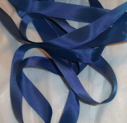 "RAYON Medium BLUE ribbon VINTAGE style 9//16/"" X 5 YARDS perfect for DOLL CLOTHES"
