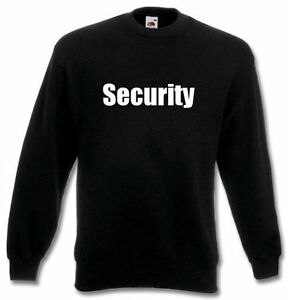 Wachdienst Pullover cartella Security sweatshirt sicurezza 6qU7v