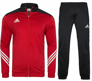 neu adidas sereno 14 herren anzug trainingsanzug jogginganzug rot d82934 sale. Black Bedroom Furniture Sets. Home Design Ideas
