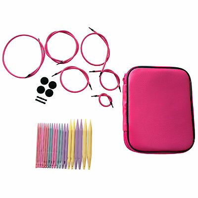 20pcs Circular Knitting Needle and Cable Interchangeable Knitting Needle Set