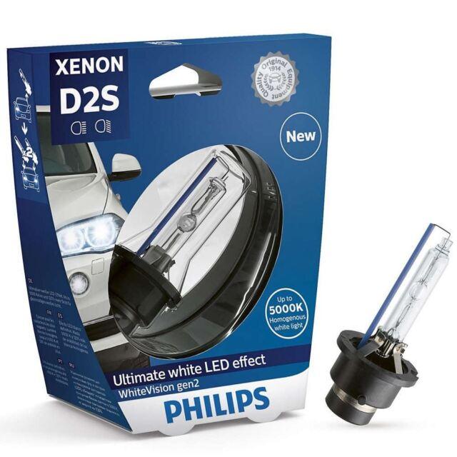 Philips D2S 35W 85V White Vision gen2 Xenon 5000K LED Effect 85122WHV2S1 1 bulb