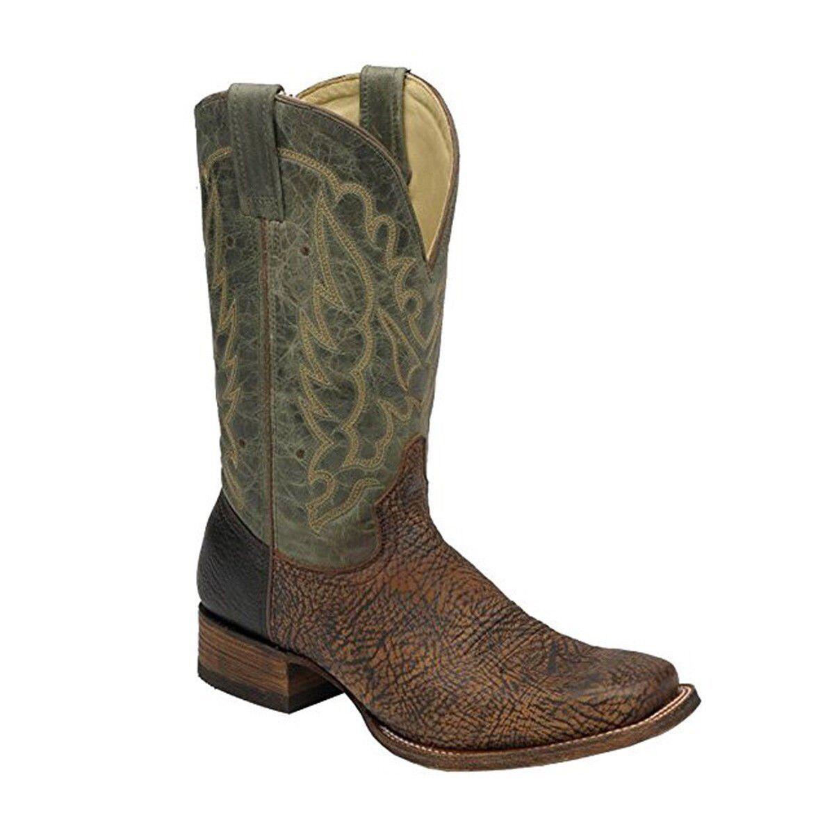 Corral dedo del pie cuadrado de hombro para Hombre botas De Vaquero A2653