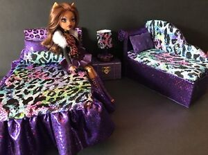Image Is Loading Monster High Furniture Bedroom Set Clawdeen Bed Sofa