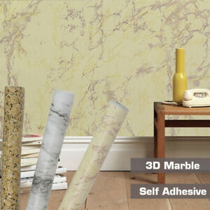 10m Marble Wallpaper Self Adhesive Furniture Film Wall Stickers
