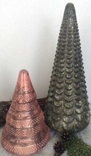 Baum Tannenbaum Bauernsilber 42cm Glas Zylinder Winter Weihnachts Deko Objekt