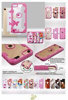 For Apple Ipod Touch 5th 6th Gen Customized Hybrid Shockproof Rubber Case Cover
