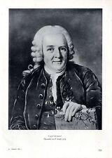 Carl Linné Nach einem Ölgemälde von P. Krafft 1774 Histor. Bilddokument von 1935