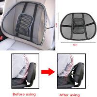 Mesh Lumbar Back Brace Support Office Home Car Seat Chair Cushion Cool Black