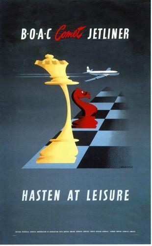 1950/'s BOAC de Havilland Comet Travel Poster  A3 A2 Print