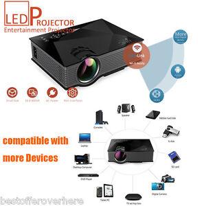 UNIC UC46 Wireless WIFI Mini Full HD LED Video Projector Home Cinema VGA HDMI
