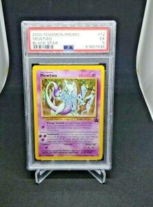 2000 Pokemon Mewtwo Non Holo Black Star Promo #12 PSA 8 1