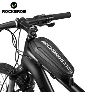 Waterproof Mountain Bicycle Hard Shell Front Tube Bag Cycling Accessories