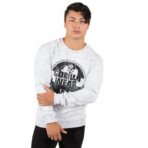 GORILLA WEAR Bloomington Crewneck Sweatshirt Mix Gray