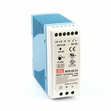 MDR-60-24 Din-Rail power supply 60W 24V 2.4A ; MeanWell, PSU prices include VAT