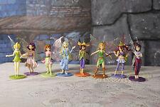 Disney Tinkerbell Fairy Princess PVC Cake Toppers Lot of 8 Fairies Rosetta Vidia