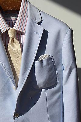 Polo Ralph Lauren L Blue Cotton 3-Button Jacket - Patch Pockets, Surgeon's Cuffs