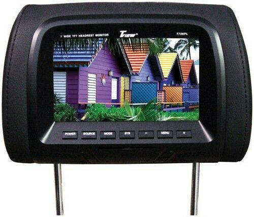 """Tview T726PLBK 7/"""" TFT//LCD Car Headrest And Monitorpair Black"""